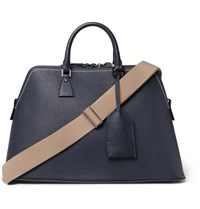 Maison Martin Margiela Full Grain Leather Holdall Navy