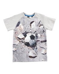 Molo V Neck Wall Ball Jersey Tee Gray