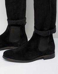 Selected Homme Oliver Suede Chelsea Boot Black
