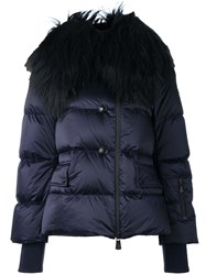 Moncler Grenoble Collar Detail Puffer Jacket Pink And Purple