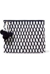 Sophie Anderson Lia Crocheted Cotton Clutch White