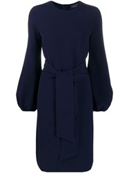 Gianluca Capannolo Tie Waist Dress Blue