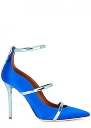 Malone Souliers Robyn Electric Blue Satin Pumps