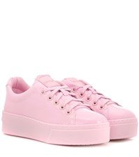 Kenzo Signature Patent Leather Sneakers Pink