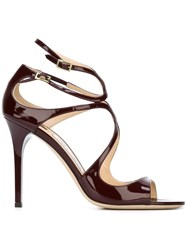 Jimmy Choo 'Lang' Sandals Pink And Purple