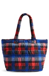 Topshop Tokyo Nylon Puffer Tote Red Red Multi