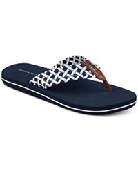Tommy Hilfiger Women's Cerley Flip Flops Women's Shoes Navy