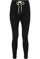 Bassike Waffle Knit Cotton Track Pants Black