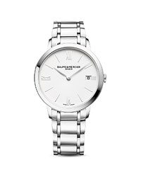 Baume And Mercier Classima 10356 Watch 36.5Mm White Silver