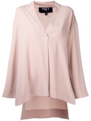 Paule Ka V Neck Blouse Women Polyester Triacetate 44 Nude Neutrals