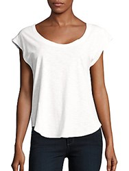 Chaser Cap Sleeve Cutout Top White