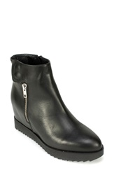 Summit By White Mountain 'Belia' Hidden Wedge Bootie Women Black Leather