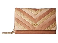 Botkier Soho Quilted Wallet On A Chain Almond Patchwork Wallet Handbags Beige