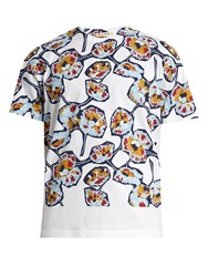Marni Floral Print Cotton Jersey T Shirt White Multi