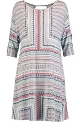 Tart Collections Nava Cold Shoulder Stretch Modal Jersey Dress Light Gray