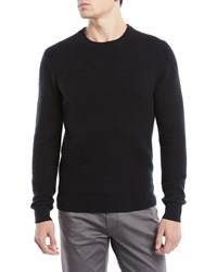 Neiman Marcus Ribbed Cashmere Pullover Sweater Black