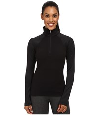 Spyder Flicker Therma Stretch T Neck Black Women's Long Sleeve Pullover