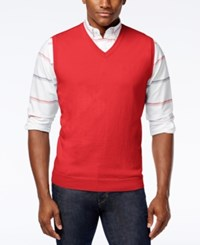 Club Room Men's Sweater Vest Only At Macy's Lipstick Coral