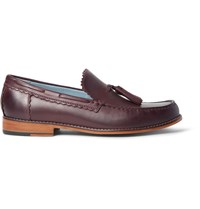 Grenson Grayson Tasselled Leather Loafers Burgundy