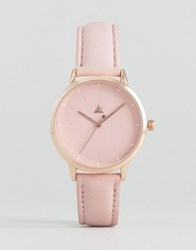 Asos Debossed Marker Pink Tonal Watch