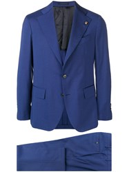 Gabriele Pasini Single Breasted Suit Blue