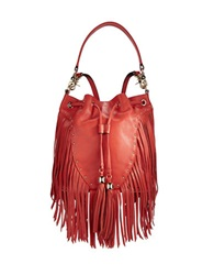 Dolce Vita Drawstring Fringed Bag Spice