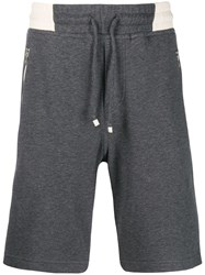 Brunello Cucinelli Fleece Lined Shorts Grey