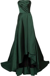 Jason Wu Strapless Faille Gown Emerald