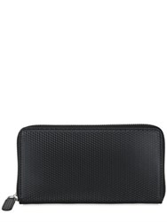 Ohba Embossed Leather Zip Around Wallet