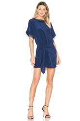 Michelle Mason Oversized Dress With Tie Blue