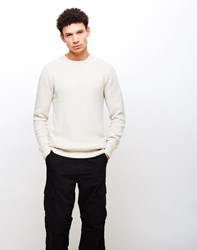 The Idle Man Jacquard Knit Jumper Cream