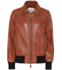 Tod's Leather Jacket Brown