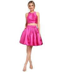 Faviana Mikado Two Piece W Contrast Lining 7858 Fuchsia Red Women's Dress Pink