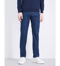 Canali Soft Regular Fit Mid Rise Jeans Indigo