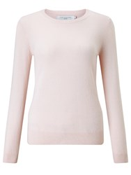 John Lewis Cashmere Crew Neck Jumper Light Pink