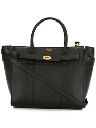 Mulberry Zip Tote Bag Women Calf Leather One Size Black