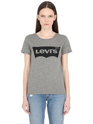 Levi's Logo Printed Cotton Jersey T Shirt