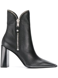 Alexander Wang Zip Detail Ankle Boots Black