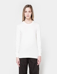 Nsco Flat Knitted Rib Crew Neck In White