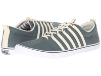 K Swiss By Billy Reid Low Top Teal Cotton Canvas Men's Lace Up Casual Shoes Blue