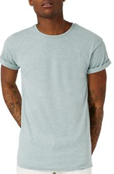 Topman Men's Muscle Fit Roller T Shirt Green
