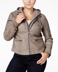 American Rag Trendy Plus Size Layered Look Jacket Only At Macy's Vintage Gravel