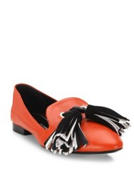 Proenza Schouler Tassel Leather Loafers Red