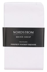 Nordstrom Shop The Perfect Pre Folded Pocket Square White