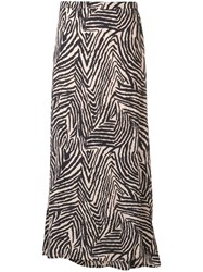 Lily And Lionel Zebra Print Lennox Skirt Neutrals