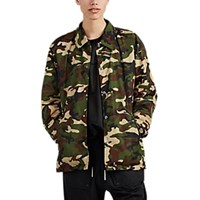 Mastermind Japan Skull Embroidered Camouflage Coach's Jacket Olive