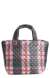 M Z Wallace Mz Wallace 'Small Metro' Quilted Oxford Nylon Tote Black Plaid