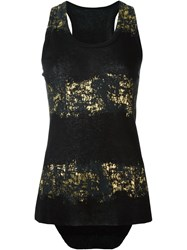 Haider Ackermann Metallic Print Tank Top Black
