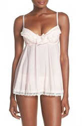 Women's Black Bow 'Ruffle Dot' Underwire Babydoll Chemise And Briefs