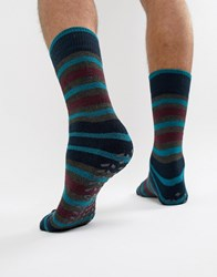 Totes Socks In Stripe Grey